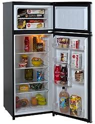 Avanti RA7316PST 2-Door Apartment Size Refrigerator, Black wi...