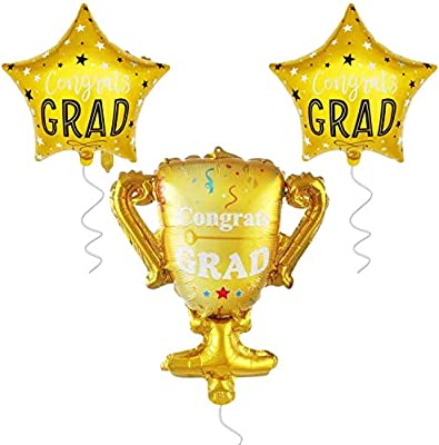 Graduation Burgundy Congrats Grad Star 19-Inch Foil Balloon