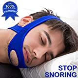 Anti Snore Strap Snore Reducing Chin Strip, Anti Snoring Jaw Strap, Anti Snore Jaw Belt, Anti Snore Strap with Magic Tape for Man and Women,Blue Color (Blue)