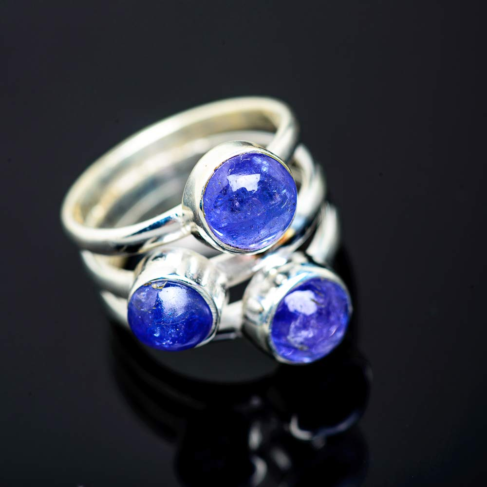 Ana Silver Co Natural Tanzanite Ring Size 5.5 925 Sterling Silver Bohemian Vintage RING951897 - Handmade Jewelry