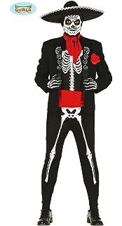 Guirca- Disfraz adulto skeleton mejicano, Talla 52-54 (84297.0 ...