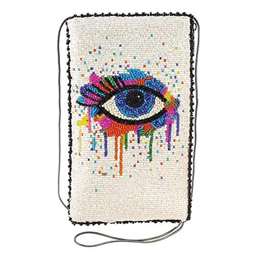 Mary Frances Eye Paint Beaded Crossbody Phone Bag, Multicolor