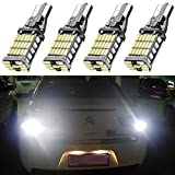 4-Pack 921 912 T10 T15 White 1200 lumens 12V-24V Extremely Bright Non-Polarity Canbus Error Free AK-4014 45pcs Chipsets LED Bulbs For Backup Reverse Parking Lights Xenon White 6000K