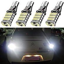 4-Pack 921 912 T10 T15 White 1200 lumens 12V-24V Extremely Bright Non-Polarity Canbus Error Free AK-4014 45pcs Chipsets LED Bulbs For Backup Reverse Parking Lights Xenon White 6000K