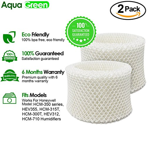 2-Pack Honeywell HAC-504AW Compatible Humidifier Filter A BY Aqua Green 504 Humidifier