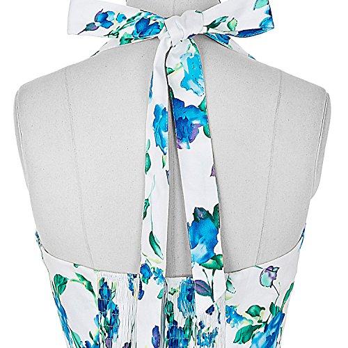 Grace Karin 50s de Las Mujeres del Patrón Retro del Vestido - Vestido Floral Oscilación del Patinador de Vestir Color 3