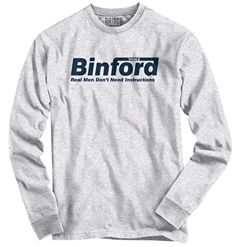 Brisco Brands Binford Home Improvement Funny Shirt Cool Tim Allen Toolman Long Sleeve Tee