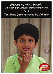 American Sign Language / Baby Sign Language Cards - Ten Signs Demonstrated By Children. Set 4