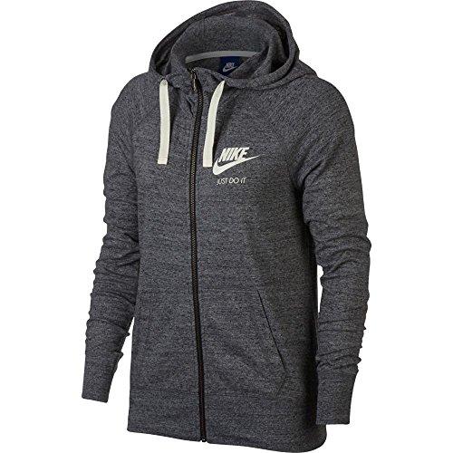 Nike Sportswear Full-Zip Hoodie Carbon Heather/Sail Women's Sweatshirt