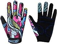 Anti-Slip Full Finger Kids Cycling Gloves for Unisex Boys Girls Youth - Mountain Biking Riding Gym Sport Glove