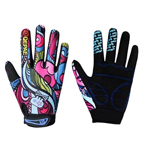 IPOTCH Anti-Slip Full Finger Kids Cycling Gloves for Unisex Boys Girls Youth – Mountain Biking Riding Gym Sport Gloves