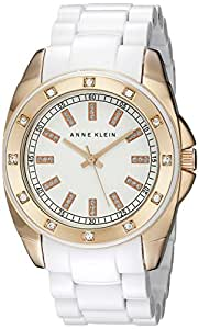 Anne Klein Women's 109178RGWT Swarovski Crystal-Accented Watch
