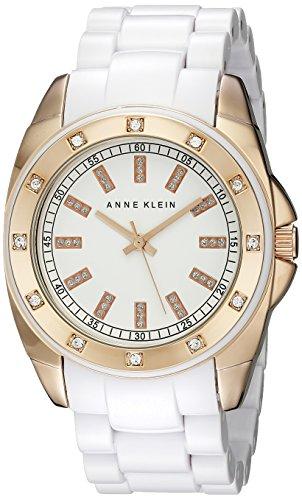 Anne klein women 39 s 109178rgwt swarovski crystal accented watch import it all for Anne klein swarovski crystals