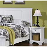 Home Styles 5530-5011 Naples Queen Headboard and Nightstand, White Finish