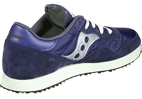 Saucony Mens DXN Vintage S70369-5 Suede Trainers Navy Silver F9YXX