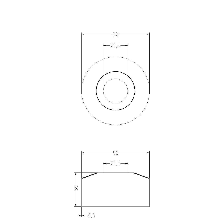 acquastilla 101006/roset/ón abombada a caja para grifo