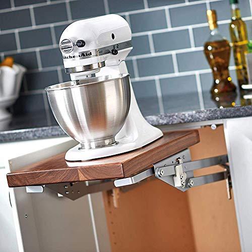 Rev-A-Shelf RAS-ML-HDCR Heavy-Duty Spring Loaded Appliance Lift Assist Mechanism for Custom Shelves, Chrome