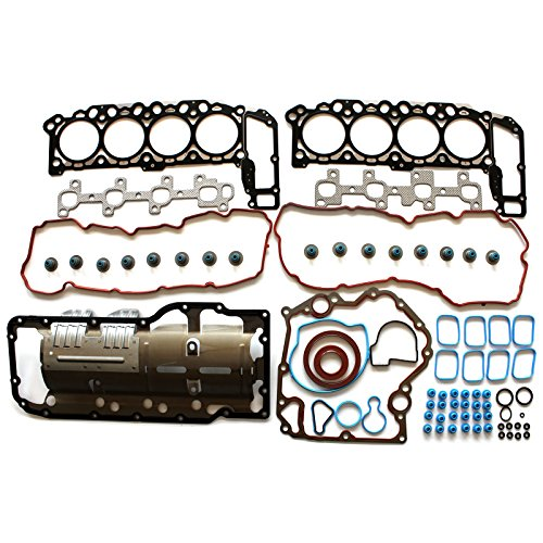 (SCITOO Replacement for Head Gasket Set fits Chrysler Aspen Dodge Dakota Durango Ram 1500 Jeep Mitsubishi Raider 4.7L 2004-2007 Timing Cover Gaskets )