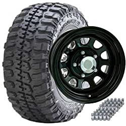 JEEP TJ, YJ, XJ 31X10.50R15 FEDERAL/ 15X8 FLAT BLACK WHEELS SET OF 5 - TIRE & WHEEL PACKAGES