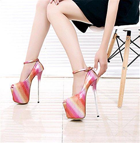 Toe Stiletto Peep Delle Tacchi Piattaforma Rosso Delle Qualità Lh Modello Della Banquetwedding Di Pompe Partito Yu Di Scarpe Alti Donne Nuove Sandali Donne FwPxq7