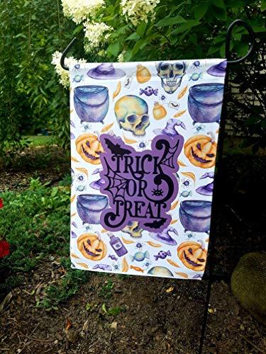 (Trick or Treat Garden Flag Outdoor Sign Halloween Home Decor - 12x18)