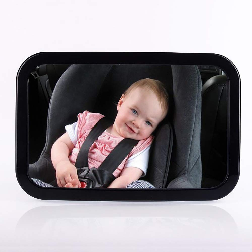 Baby Car Mirror, Shatter-Proof Acrylic Backseat Mirror for Car, Adjustable, Convex and 360° Swivel OUZIFISH