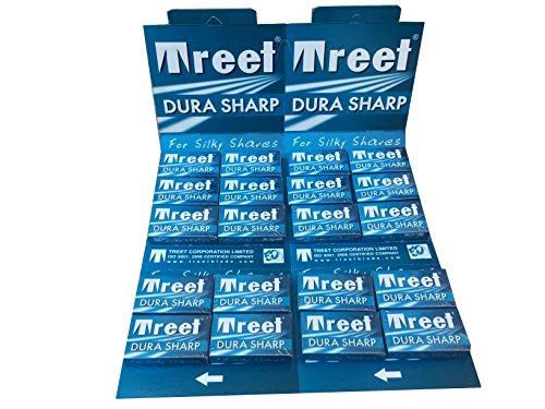 Treet Dura Sharp Double Edge Safety Razor Blades, 100 Count