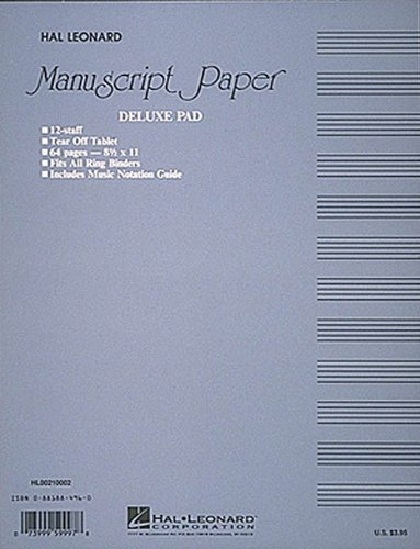 Manuscript Paper (Deluxe Pad)(Blue Cover) (Paper Manuscript)