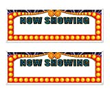 Beistle S50218AZ2, 2 Piece Now Showing Sign Banners, 5' x 21''