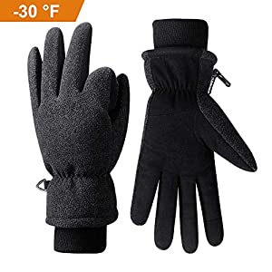 Anqier Winter Gloves -30℉(-34℃) Coldproof Thermal with 3M Thinsulate Insulation Touchscreen Glove for Women Men