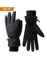 Anqier Winter Gloves -30℉ Coldproof Warm Touchscreen Glove Women Men