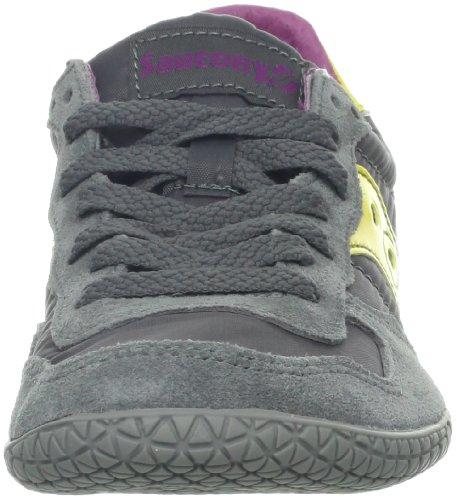 Saucony Originals Damen Kugel Sneaker Dunkelgrau / Gelb