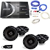 MB Quart Discus DSC4125 4-Channel Amp, Two Pairs of MB Quart Z-Series ZK1-116 6.5' 2-Way Coaxial Speakers & Wiring Kit