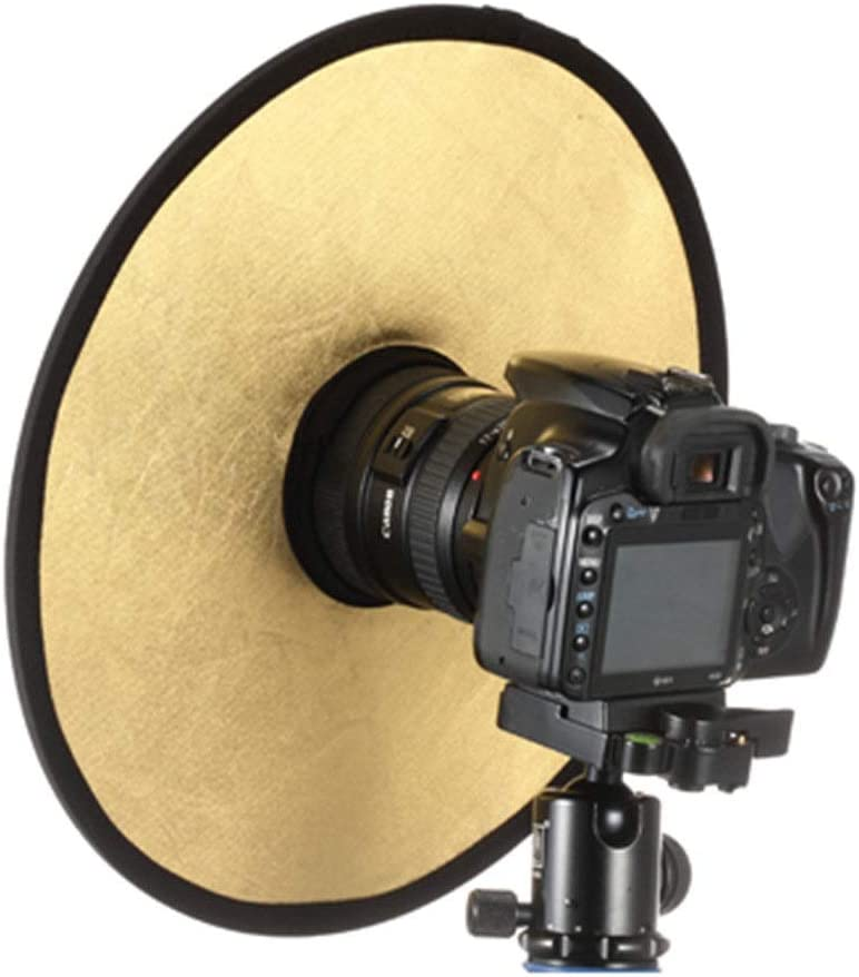 Zxcvlina Photo Studio Reflector Diffuser kit Photographic Equipment Gold and Silver Hollow Reflectors Foldable Gold and Silver 2-in-1 Camera Lighting Reflector for SLR Cameras