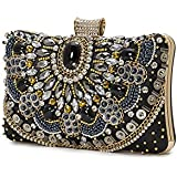 Evening Clutch Bags Beads clutch Black Autumn new style women Crystal Rhinestone bag formal dress handbags