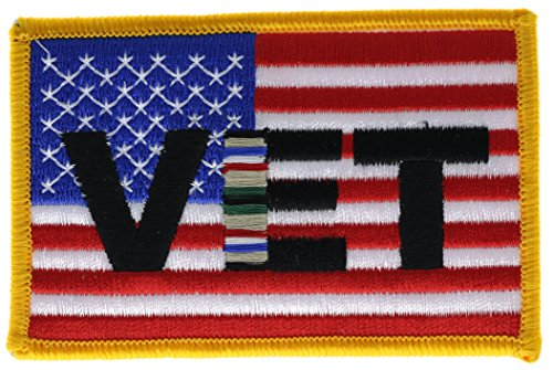 Gulf War Veteran US Flag 3.5 inch Iron or Sew on embroidered Patch (Gulf War Veteran Patch)