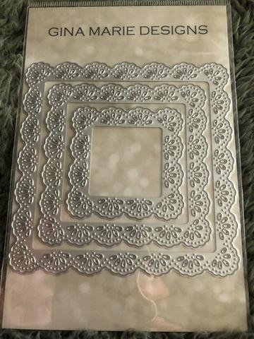 Gina Marie Metal Cutting Paper Craft Die - Frilly Lace Square