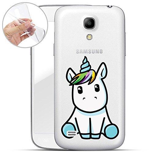 Finoo | Samsung Galaxy S4 Mini Weiche Flexible Silikon-Handy-Hülle | Transparente TPU Cover Schale mit Motiv | Tasche Case Et