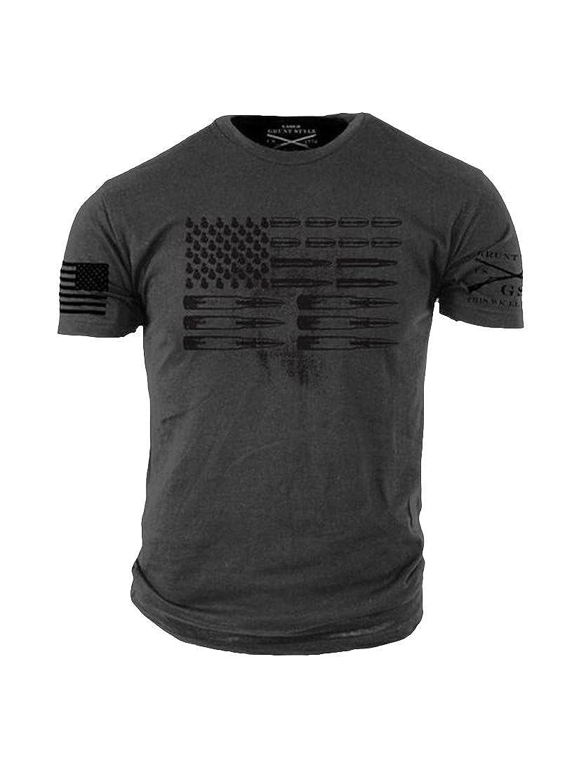 9526e6edd Amazon.com: Grunt Style Ammo Flag Men's T-Shirt: Clothing