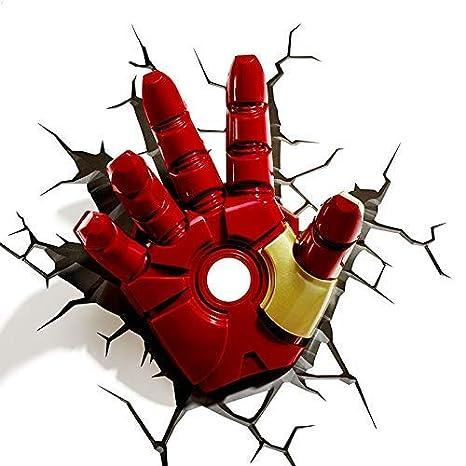 Amazon.com: Miracle Avengers Lámpara de pared Iron Man Hulk ...