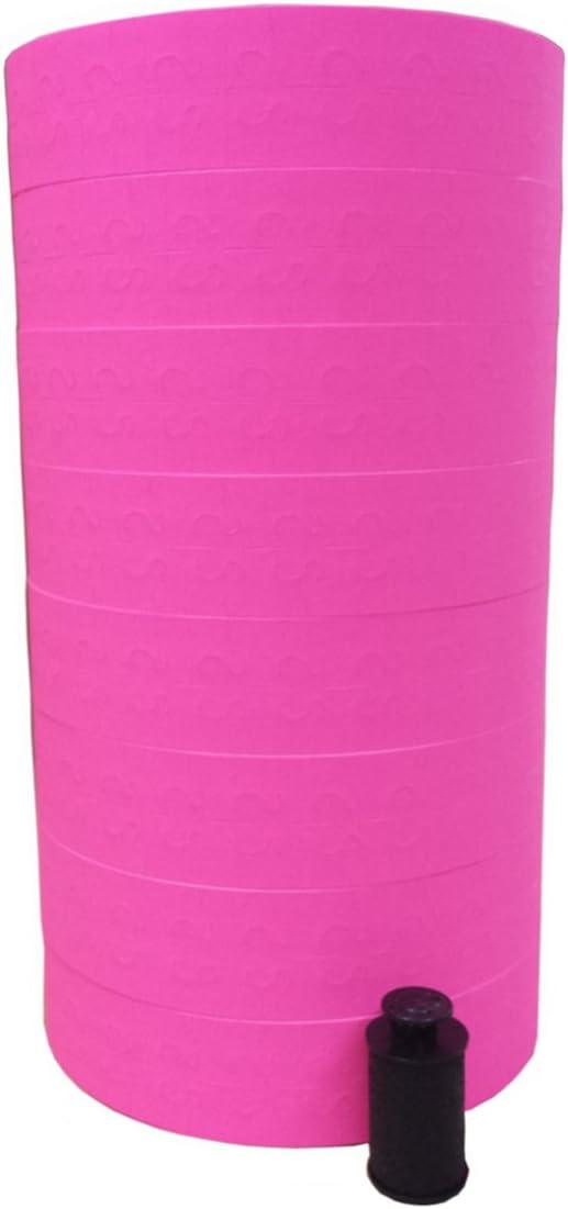 Monarch 1131 Price Gun Pink Labels - 8 Rolls