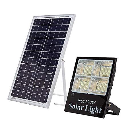 LED Foco Proyector Solar Exteriores, Luces De Seguridad Jardín ...