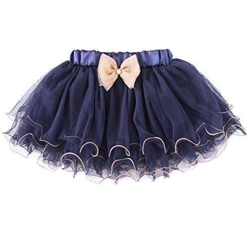 Fashion Weavy Brim Navy Tutu Skirt for Little Girls