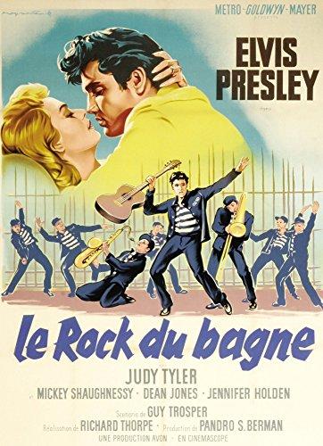 - Posterazzi Jailhouse Rock Judy Tyler Elvis Presley Featured On French Art 1957 Movie Masterprint Poster Print (11 x 17)