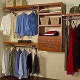 Woodcrest 120'' Wide Closet System Finish: Carmel