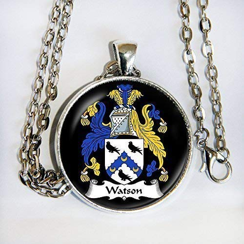 YOUR FAMILY CREST as a Custom Pendant Necklace -Unique Gift or Keepsake - HM ()