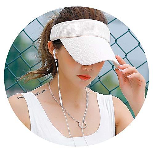 Tennis Caps Stylish Unisex Beach Sports Sun Visor Hat Golf Caps Summer Travel Sun Hat Outdoor,Rice -