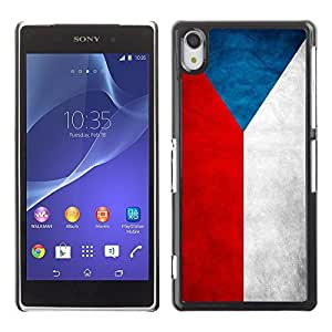 Shell-Star ( National Flag Series-Czech Republic ) Snap On Hard Protective Case For SONY Xperia Z2 / D6502 / L50W