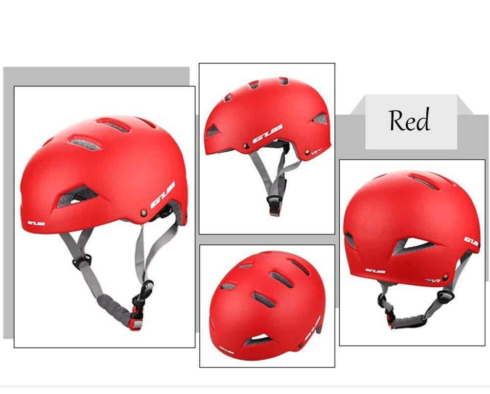 サイクリング自転車用ヘルメット 乗馬用ヘルメットロードバイクマウンテンバイクスケートボードロッククライミング登山ラフティングヘルメット スポーツ用保護ヘルメット (色 : Red, サイズ : Large) B07MSGXPJL Red Large