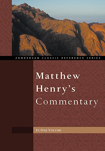 Matthew Henry's Commentary One Volume